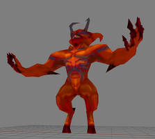 LowPoly Demon in a China Shop