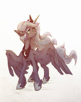Lunar sketch by Koviry
