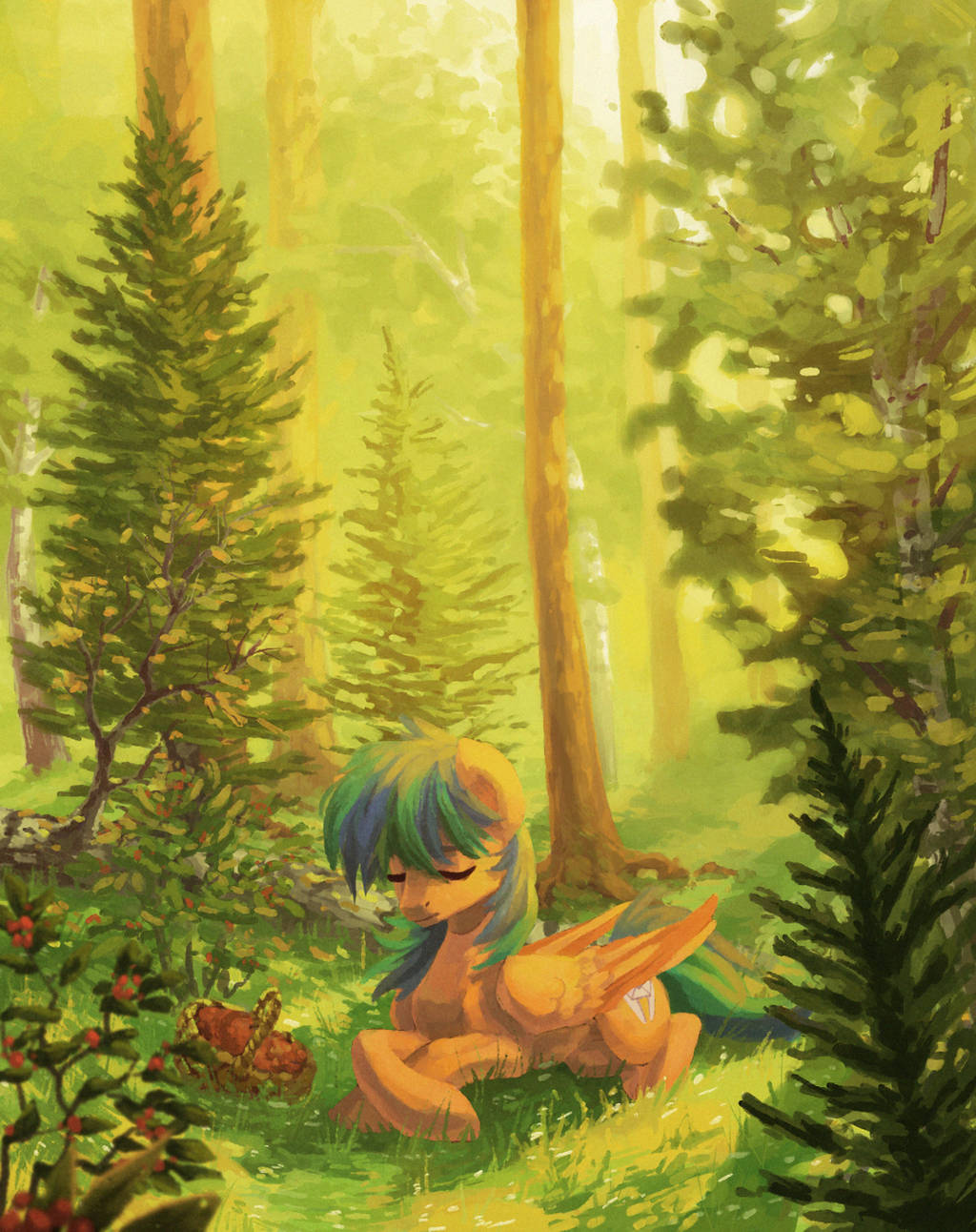 Summer forest (ych) by Koviry