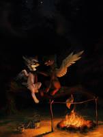 Campfire (ych) by Koviry