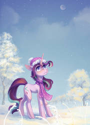 Winter Starlight (+speedpaint) by Koviry