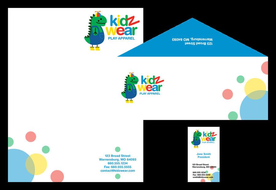 KidzWear Letterhead by brandimillerart