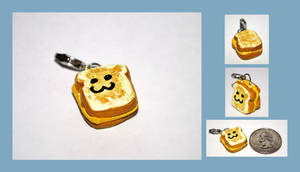 Grilled Cheese Charm by brandimillerart