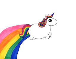 Chubby Unicorn by brandimillerart