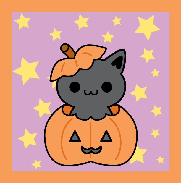 Halloween Kitty by brandimillerart on DeviantArt