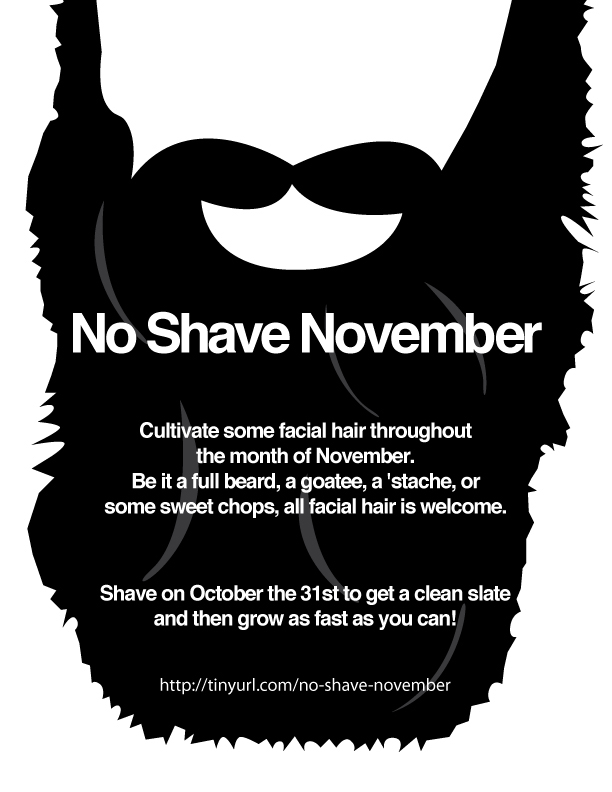 No Shave November Flier By Brandimillerart On DeviantArt