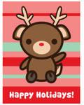 Happy Holidays Reindeer