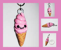 Icecream Cone Charm by brandimillerart