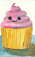 Cute Cupcake by brandimillerart