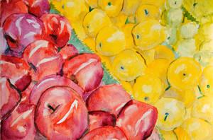Apples: Foreground by brandimillerart