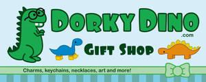 Dorky Dino Banner by brandimillerart