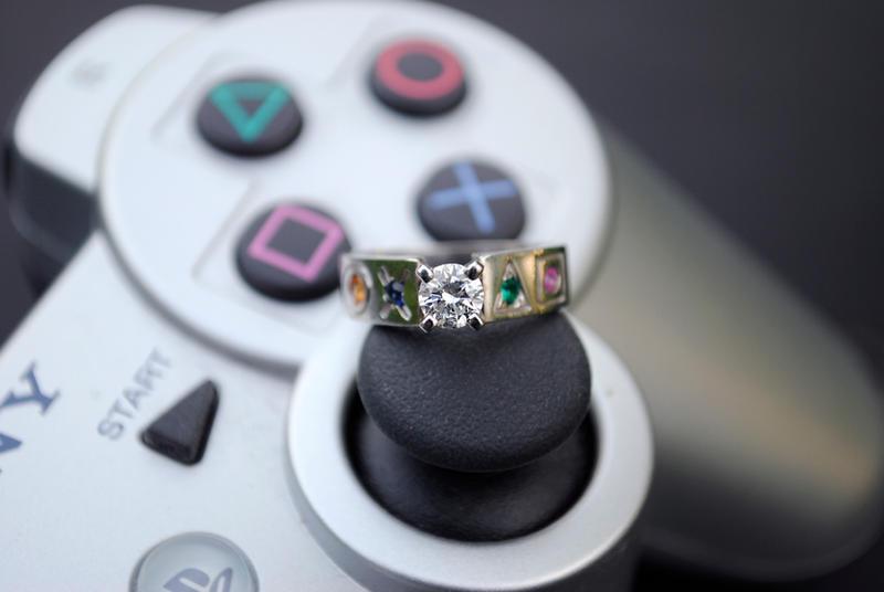 Playstation Ring by brandimillerart