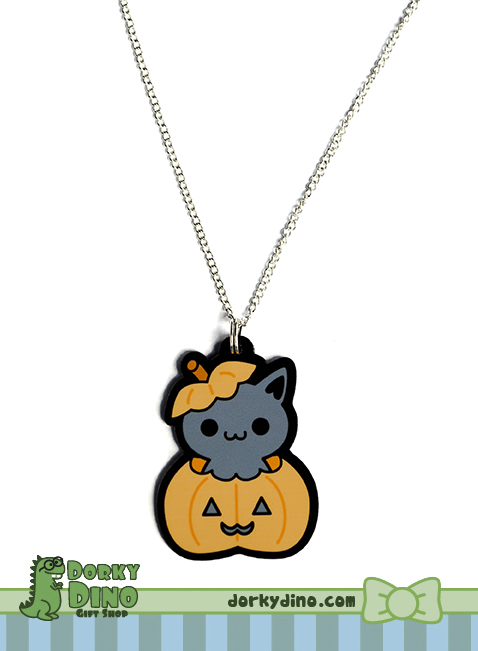 Halloween Kitty Necklace by Strange-1