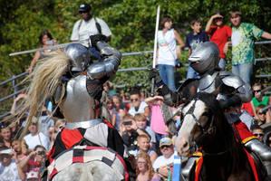 Knight Battle on Horseback by brandimillerart
