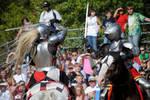 Knight Battle on Horseback