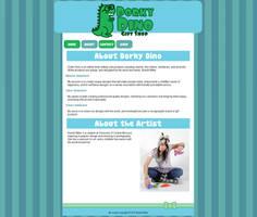 Dorky Dino Website by brandimillerart