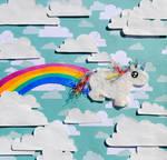 Chubby Unicorn Farts Rainbows