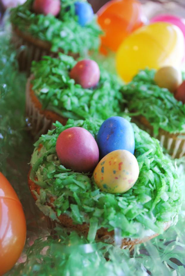 Easter Egg Cupcakes by brandimillerart