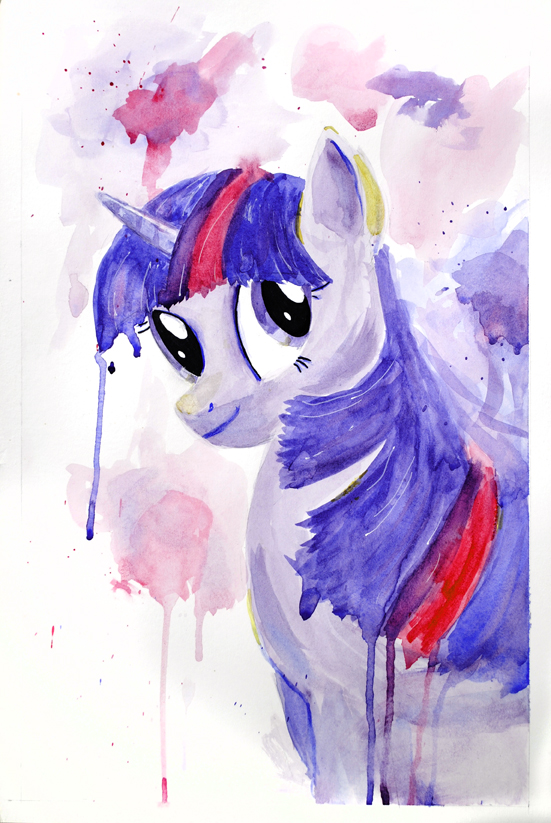 Twilight Sparkle Watercolor by Strange-1