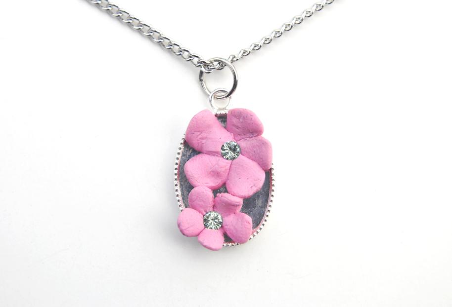 Cherry Blossom Necklace 01 by brandimillerart