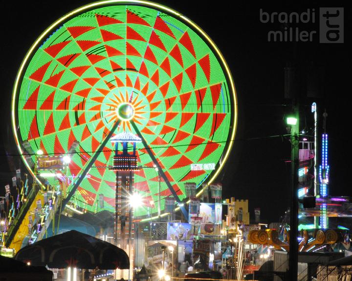 The Ferris Wheel by brandimillerart