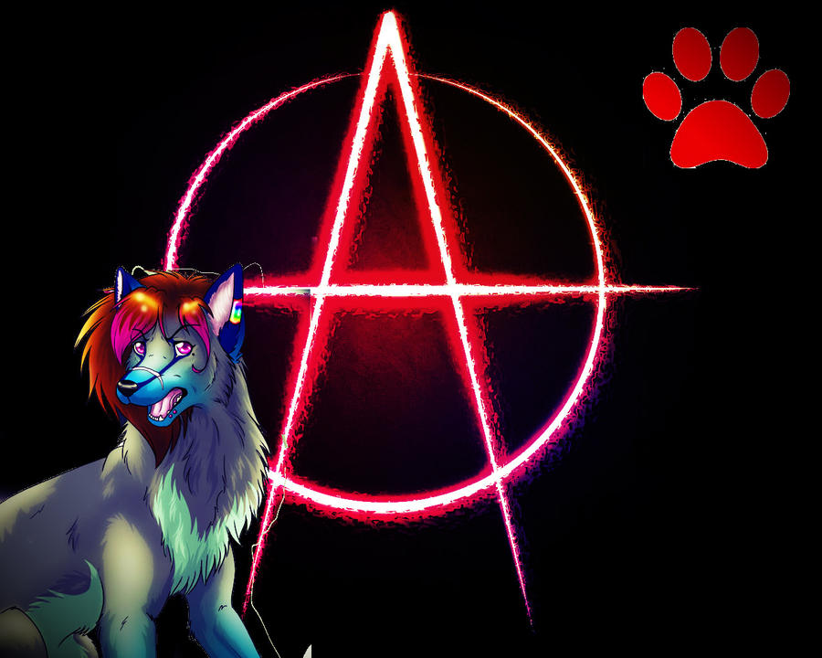 AnarchyWolfKira desktop background by 6LITCH-TH3-W01F
