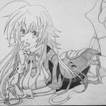 Rias Gremory - Pencil sketch   Highschool DxD