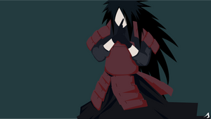 Minimalist wallpaper | Madara Uchiha - By Shank