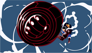 Minimalist wallpaper | Luffy 4th Gear | Kong Gun