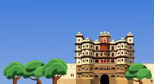 Rajwada Palace Indore | Vector Graphic | India