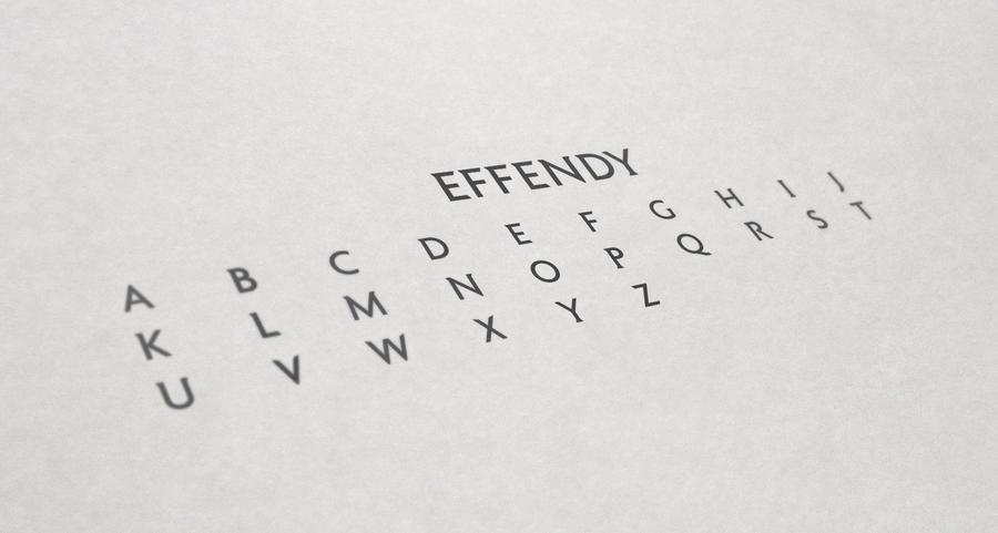 Effendy - UPPERCASE by Vernics