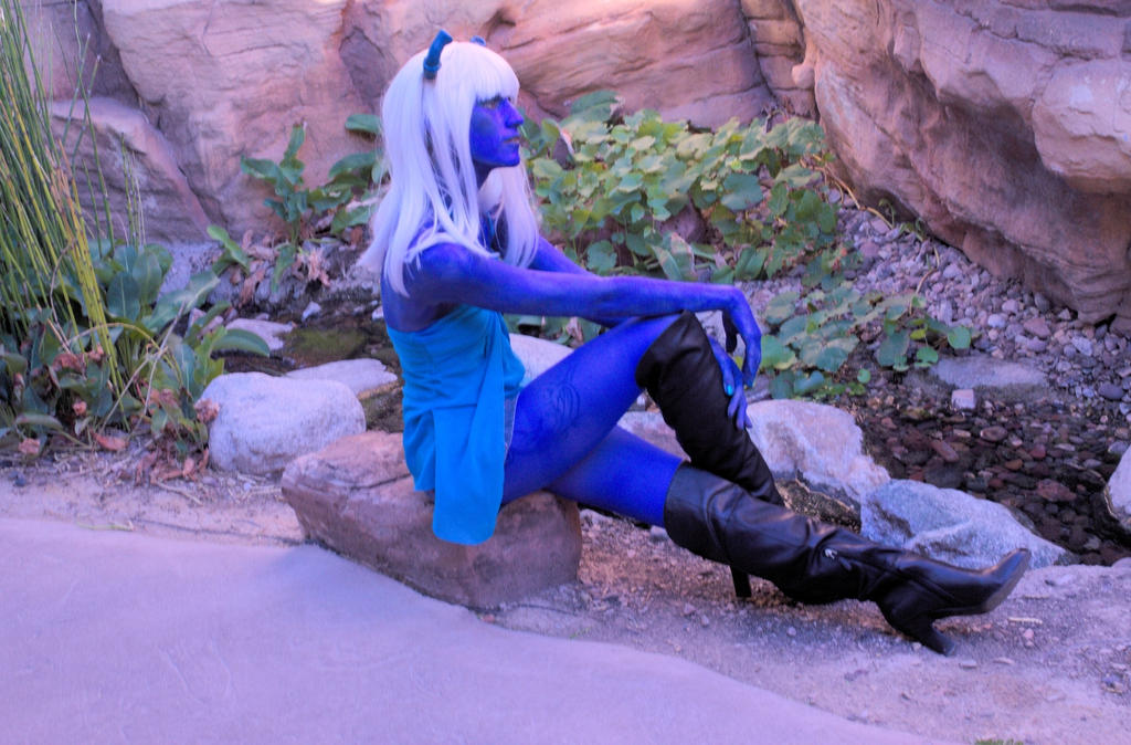 Andorian Cos-Play by Heather-Ferris