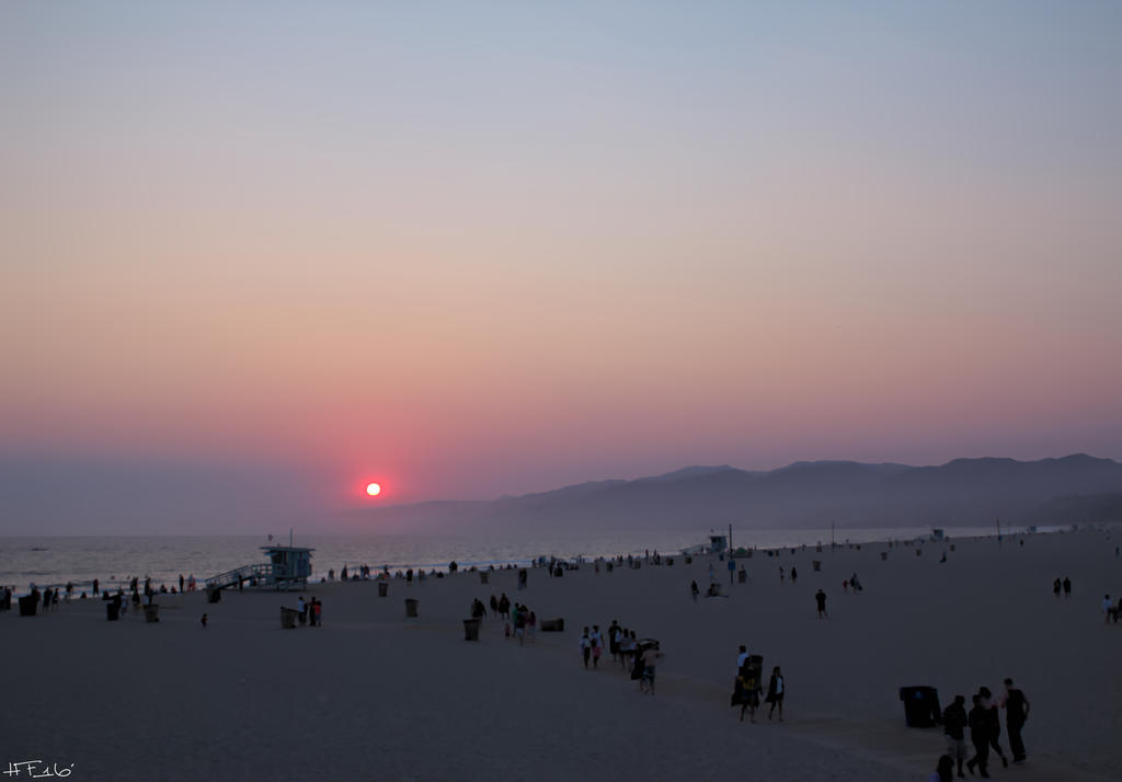 Santa Monica Sunset by Heather-Ferris