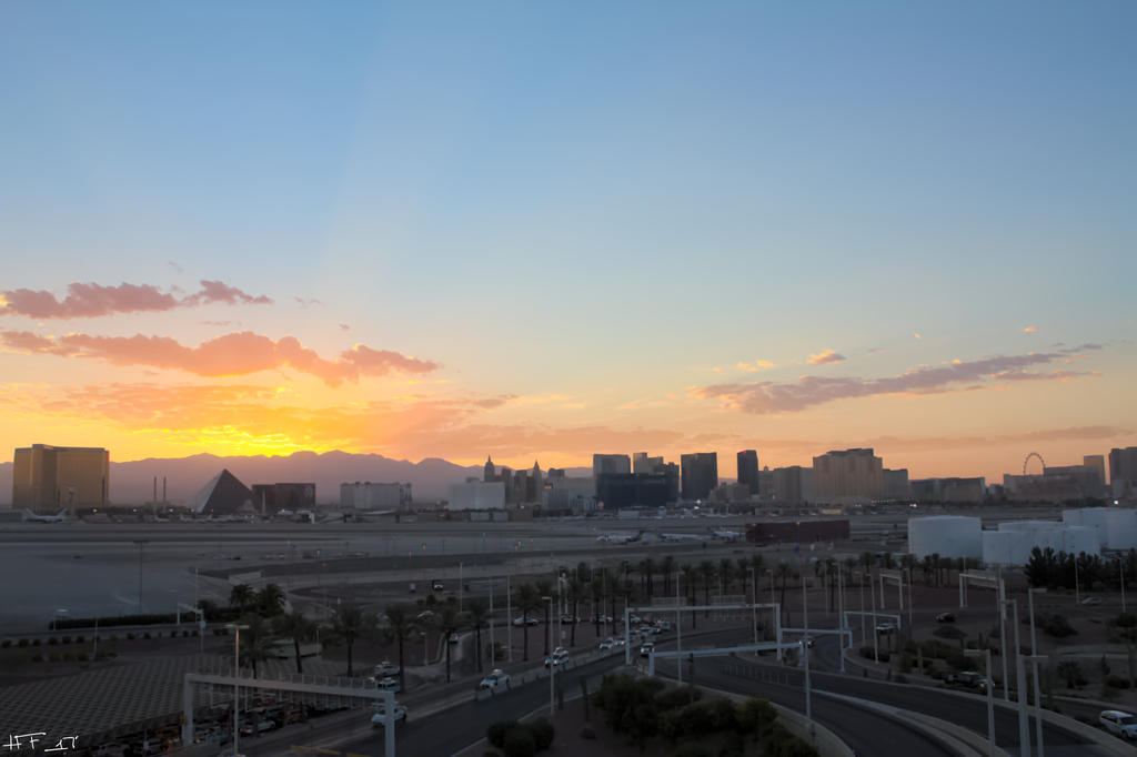 Las Vegas Sunset by Heather-Ferris