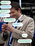 Cas Learns Texting