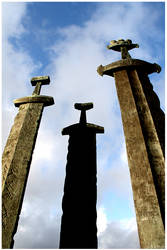 Three Swords of Hafrsfjord by Charinje