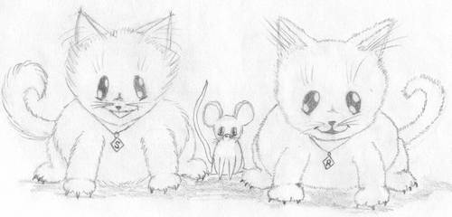Scruffles and Ruffles Go Chibi by melydia