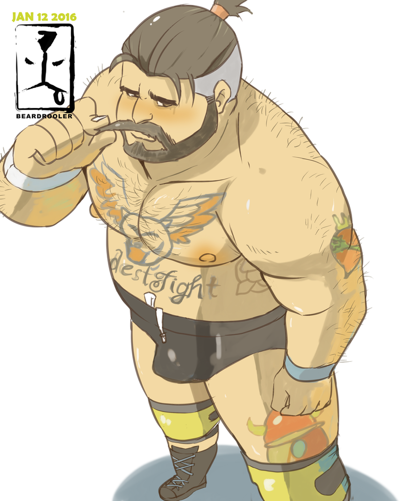 Real Pro Wrestler wears TRUNKS by beardrooler