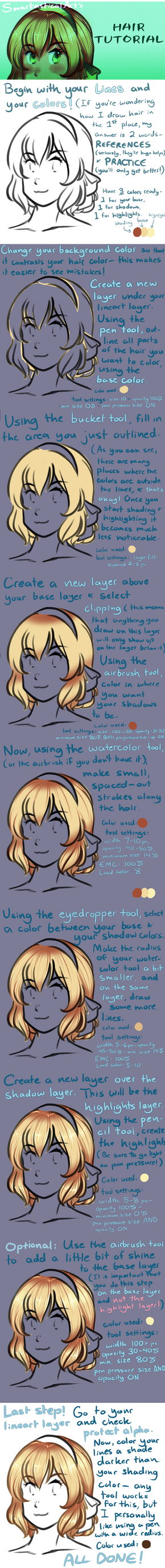 UPDATED Hair Coloring Tutorial by SmartasticalArt
