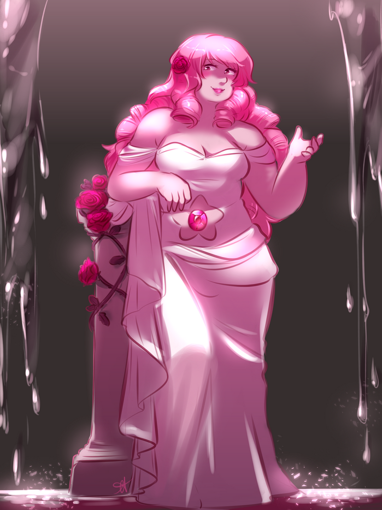 Super proud of how this turned out! I drew a Rose Quartz, heavily inspired by the goddess Aphrodite, as part of Huevember 2018! This is day 11, and this time around I'm collabing with my bf b...