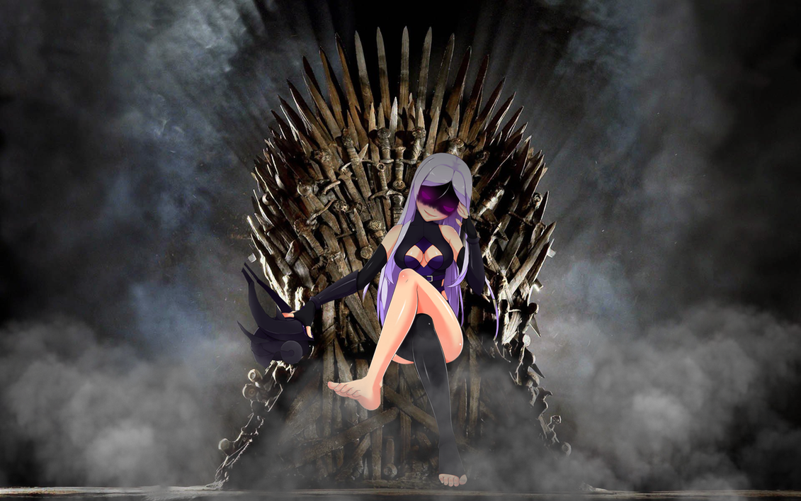 Syndra sitting on the iron throne by gaaracapo111 on for Iron throne painting