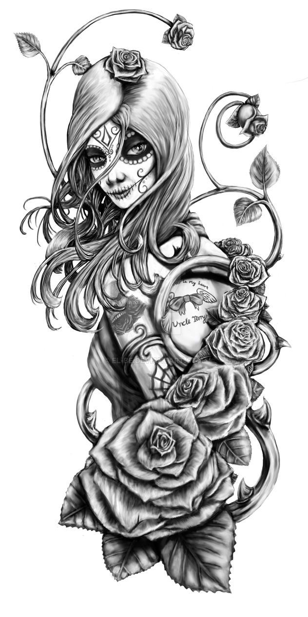 Calavera Tattoo Design By El Be On DeviantArt