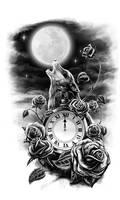 Midnight howl by El-Be