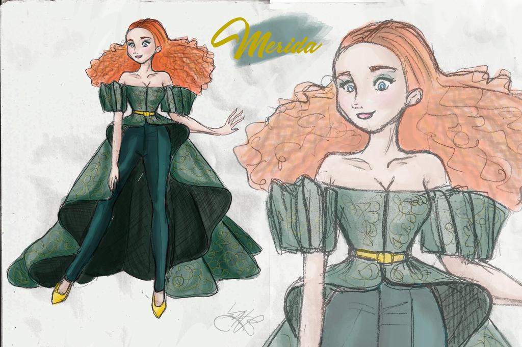 Merida Desing  sketch by saennavi