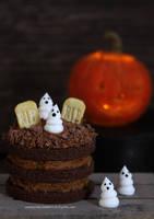 1:12 scale Halloween Cake by Almadejonge