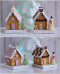 1:12 scale Gingerbread Houses