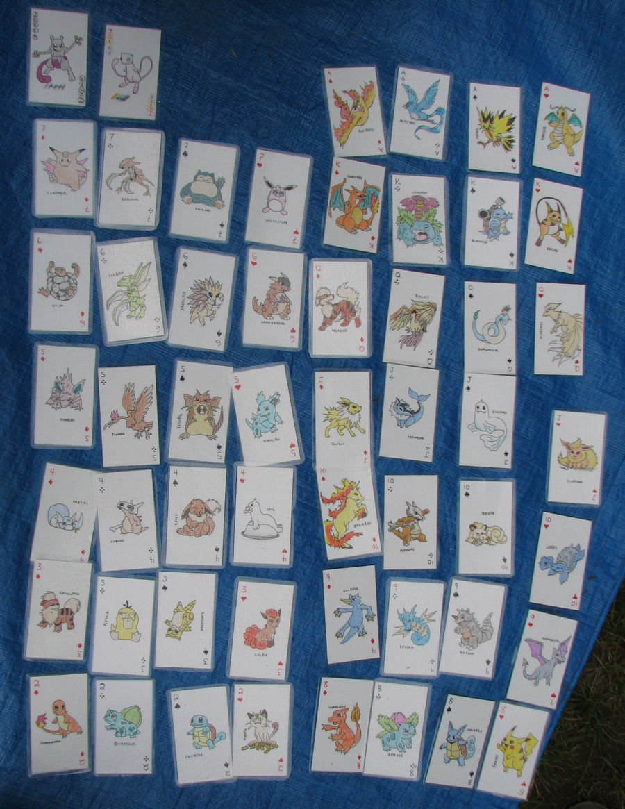 Handmade Pokemon Poker Cards By Sparkingwonders On Deviantart
