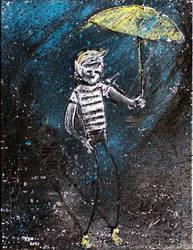 Rain Polyptych 1: Boy With Umbrella