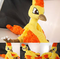 Pokmon Moltres inspired plushie by ButterscotchPlushies