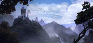 Jungle Castle matte painting